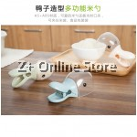 Z PLUS Lovely Duck Head Shape Plastic Rice Cereal Scoop with Bag Sealing Clip