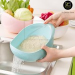Z PLUS Large Thickened Kitchen Wash Rice Basket Container