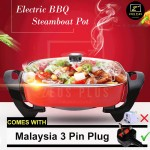 Z PLUS 6L Korean Multipurpose Non Stick Electric Cooker Grill Pan BBQ Steamboat Pot