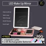 Z PLUS 360° Rotate USB LED Light Touch Screen Makeup Mirror Free Battery Eyelash Curler