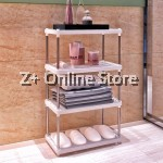 Z PLUS 3 Layers Stainless Steel Multipurpose Bathroom Bedroom Shelf Storage Organiser