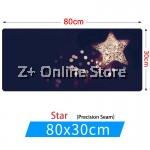 Z PLUS [80cm x30cm] Large Gaming Thickened Desktop Table / Keyboard Mouse Pad (Stars)