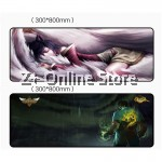 Z PLUS [90cm x40cm] Large Gaming Thickened Desktop / Keyboard Mouse Pad (Sweet Love)