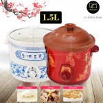 Z PLUS 1.5L Purple Sand Clay Slow Cooker Ceramic Slow Cooker Pot Porridge Soup Dessert