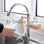 Z PLUS 2 in 1 Adjustable Clip Kitchen Sink Drain Rack Sponge Bathroom Soap Holder