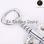 Z PLUS Thickened Barcraft Chrome Plated Double Wing Cork Screw Wine Beer Bottle Opener