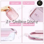 Z PLUS 4 in 1 Set of Rectangle Microwave Glass Food Container Leak proof Airtight Food Storage Glassware Lunch Box Tupperware Glasslock + Cooler Thermal Lunch Bag