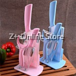 Z PLUS Set of 4 Ceramic Knife Set Combo with Knife Stand Kitchen Tools