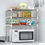 Z PLUS SEN Stainless Steel Multipurpose Oven Shelf Storage Rack Organiser [3 Tiers]