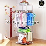SEN 3 Tiers Portable Open Closet Wardrobe Clothes Shelf Rack Organiser