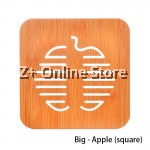 Z PLUS Cute Wooden Drink Coaster Kitchen Heat Insulated Wood Pad Mat