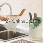 Z PLUS Cutlery Holder Drainer Tableware Organizer Fork Spoon Chopstick Storage