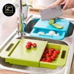 Z PLUS Korean Dual Functions Detachable Chopping Board Sink Drain Basket (620g)