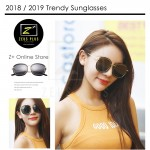 Z PLUS Stunning Stylish New Trend Gold Metal Black Thin Frame Sunglasses