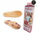Footlogics Versa Woman insole Flat Feet Aching Ball of Foot Pain Morton's Neuroma[Beige]