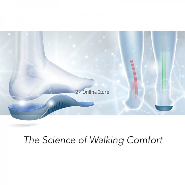 Footlogics Orthotics Catwalk Ladies High Heel insole Ball of foot pain forefoot Arch Support Treatment Flat Feet [Black]