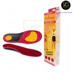 Footlogics Workmate insole Work Boots Shoes Foot Heel Pain Ache Arch Relief [Red-Yellow]