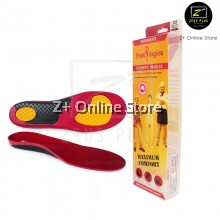 Footlogics Orthotics Workmate insole Work Boots Shoes Foot Heel Pain Ache Arch Relief Flat Feet [Red-Yellow]