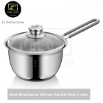 Z PLUS 16cm Tiluck Premium 304 Stainless Steel Milk Pot Silicon Handle Grip