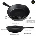 Grater Pre-Seasoned Cast Iron Non Stick Skillet Round Oven Frying Pan Steak Grill Chef Choice
