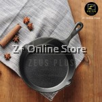 Z PLUS Pre-Seasoned Cast Iron Non-Stick Skillet Round Oven Frying Pan