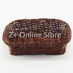 Z PLUS Fern Tray Home Decoration Rectangular Basket Key Organizer (Brown) [13cm x 9cm]