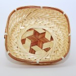 Z PLUS Square Bamboo Tray Home Decoration Basket Gift Idea