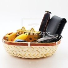 Square Bamboo Tray Home Decoration Basket Gift Idea 17CM 19CM