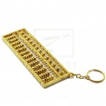 Z PLUS Abacus Key Chain (12.5cm) Gold Gift Idea Home Decoration