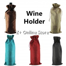 Hemp Wine Holder Wine Bag Champagne Bottle Holder Gift Carrier Wrapper