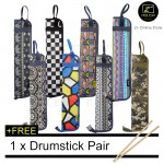 Z PLUS JC Waterproof 1200D Oxford Cloth Drumstick Bag Portable 4 Pairs Storage Zip Case