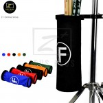 Z PLUS FV Canvas Drumstick Holder Portable Clamp Drum Stick Storage Bag Barrel Stand