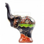 Z PLUS Batik Wood Christmas Gift Xmas Figurine Hand Craft Luck Stand Elephant