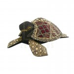 Z PLUS Batik Wood Christmas Gift Xmas Decoration Figurine Hand Craft Sea Turtle