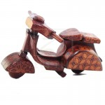 Z PLUS Batik Wood Christmas Gift Xmas Deco Miniature Vintage Vespa Scooter Motor